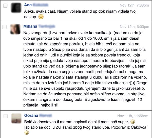 Aleks Curac Saric; Facebook inbox screenshots